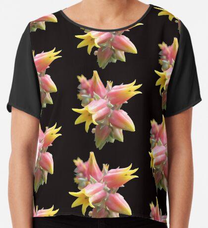 tolle Blüte in gelb und rot, Kaktus, Kakteen, Sommer Chiffontop für Frauen