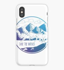Save the Wolves! iPhone Case/Skin