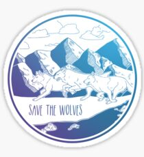 Save the Wolves! Sticker