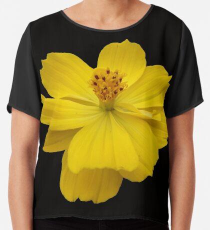 wunderschöne Blume in gelb, Sommer, Sonne Chiffontop