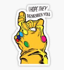 the infinity gauntlet Sticker