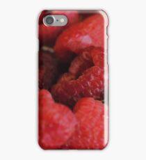 Red Raspberries Macro iPhone Case/Skin