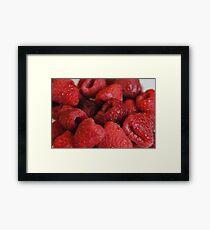 Red Raspberries Macro Framed Print