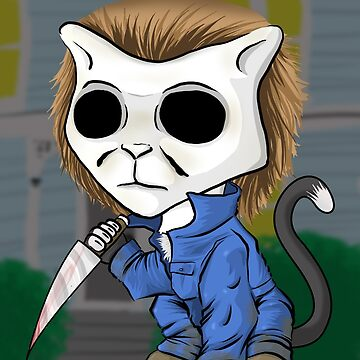 Michael Meowers - Halloween Stabby Cat by thewisecarrot