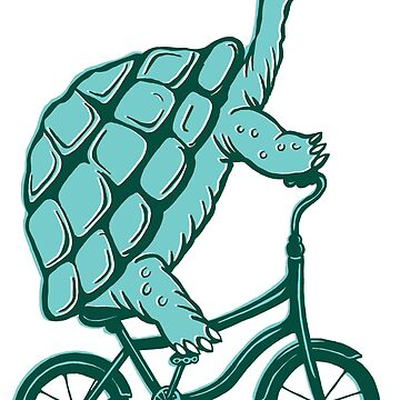 Turtle on bike by amelielegault