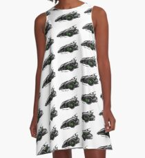 Imaginative Extreme Cars Art A-Line Dress