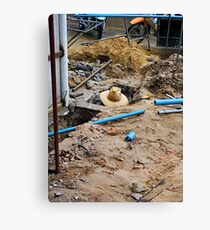 The Plumber Canvas Print