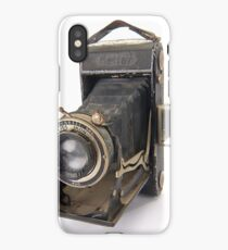 Zeiss Nettar bellows camera on white background iPhone Case