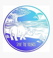 Save the Rhinos! Photographic Print