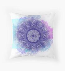 Watercolour Style Mandala Throw Pillow