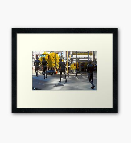 Tribute To Terry Fox Framed Print