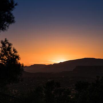 Sedona Sunset from Airport Overlook by eegibson