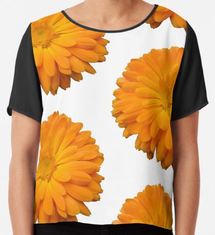 schöne orange Blume, Natur, Garten, Sommer Chiffontop für Frauen