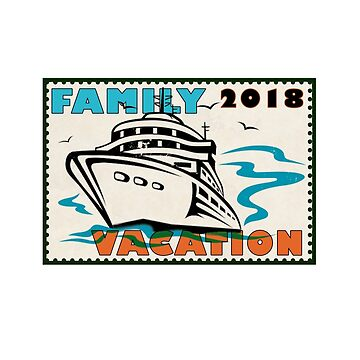 Matching Family Vacation 2018 Stamp by roccoyou