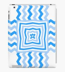 Blue Wavy Pattern iPad Case/Skin
