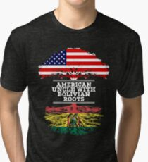 American Uncle With Bolivian Roots - Gift For Bolivian Uncle Tri-blend T-Shirt