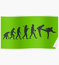 Fight Evolution Human Species Homo Sapiens Poster