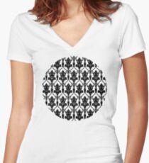 221b sherlock wallpaper Women's Fitted V-Neck T-Shirt