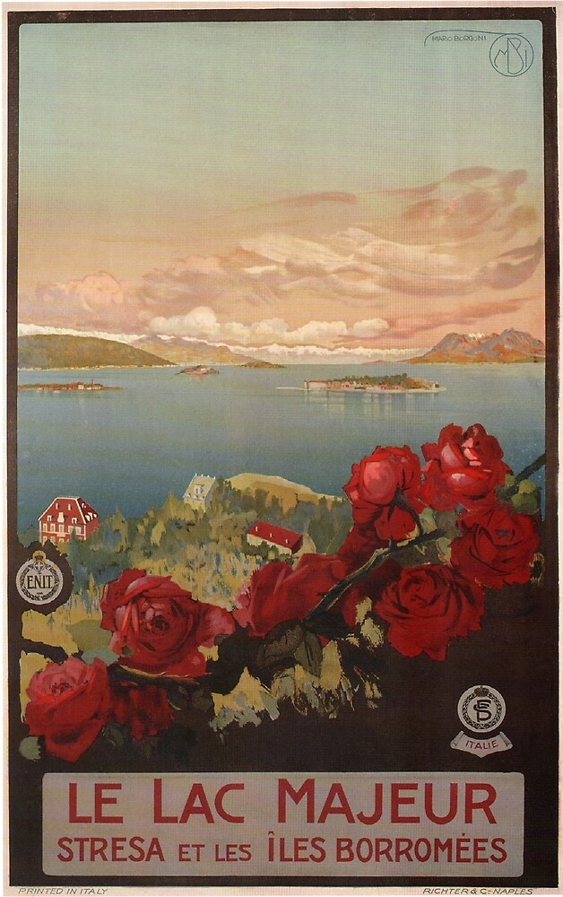 Vintage poster - Le Lac Majeur by mosfunky