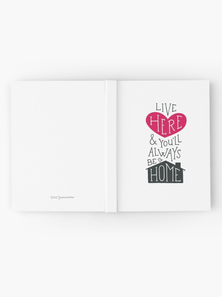 Alternate view of Live Here & You'll Always Be Home (Red) Hardcover Journal