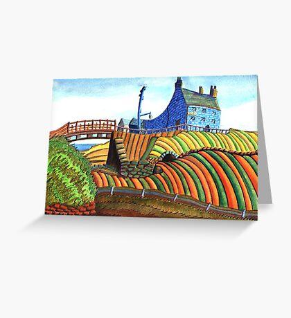 177 - SEATON SLUICE - 01 - DAVE EDWARDS - WATERCOLOUR - 2007 Greeting Card