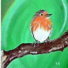 Scruffy the Robin by Angela  Mitchell