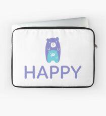 Happy Teddy Bear Laptop Sleeve