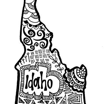 Idaho Zentangle by alexavec
