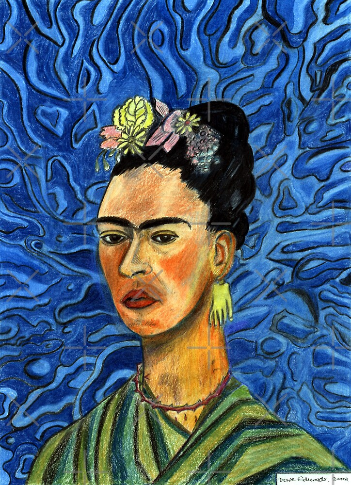 198 - FRIDA KAHLO (COLOURED PENCILS) 2008 by BLYTHART