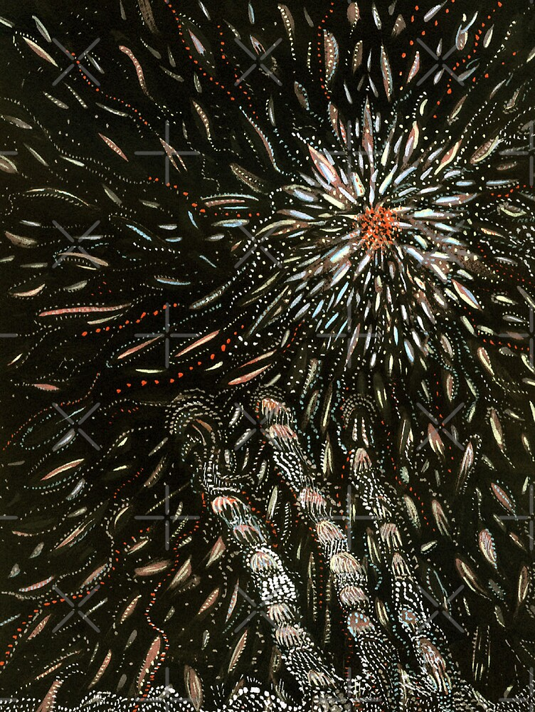 187 - SET THE NIGHT ON FIRE - DAVE EDWARDS - GOUACHE - 2007 by BLYTHART