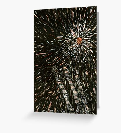 187 - SET THE NIGHT ON FIRE - DAVE EDWARDS - GOUACHE - 2007 Greeting Card