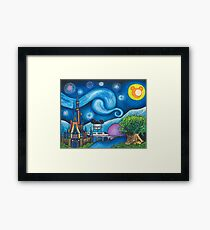 Starry Night Over the World Framed Print