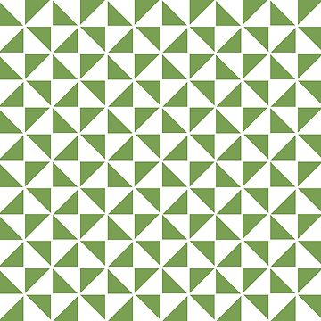 Pinwheel in Green and White by JoniandCo