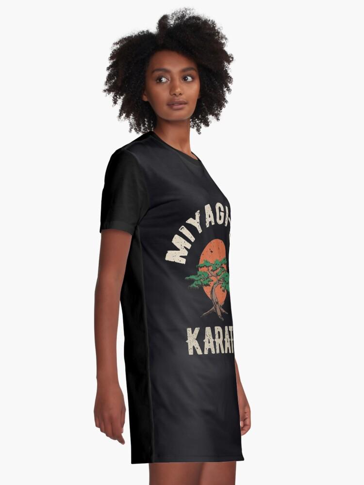 Alternative Ansicht von Miyagi tun Karate-Distress-T-Shirt T-Shirt Kleid