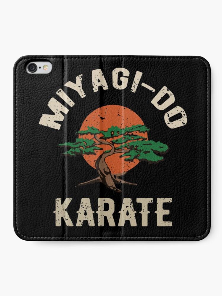 Alternative Ansicht von Miyagi tun Karate-Distress-T-Shirt iPhone Flip-Case