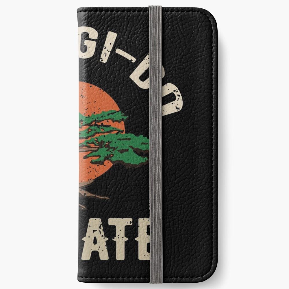 Miyagi tun Karate-Distress-T-Shirt iPhone Flip-Case