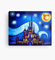 Starry Night Over The Castle Metal Print