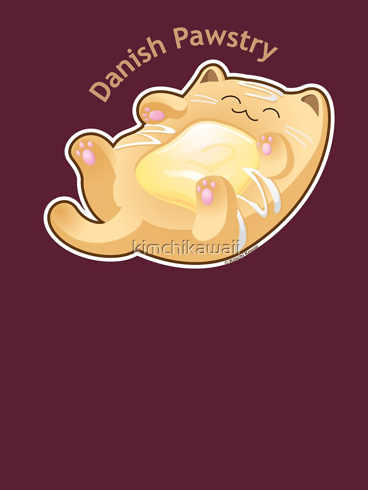 Cute Danish Pastry Cat by kimchikawaii