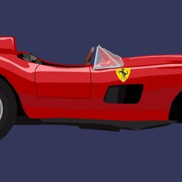 Ferrari 355 Sport Scaglietti Illustration by KnightsOfShame