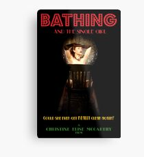 Bathing & the Single Girl Poster 3 Metal Print