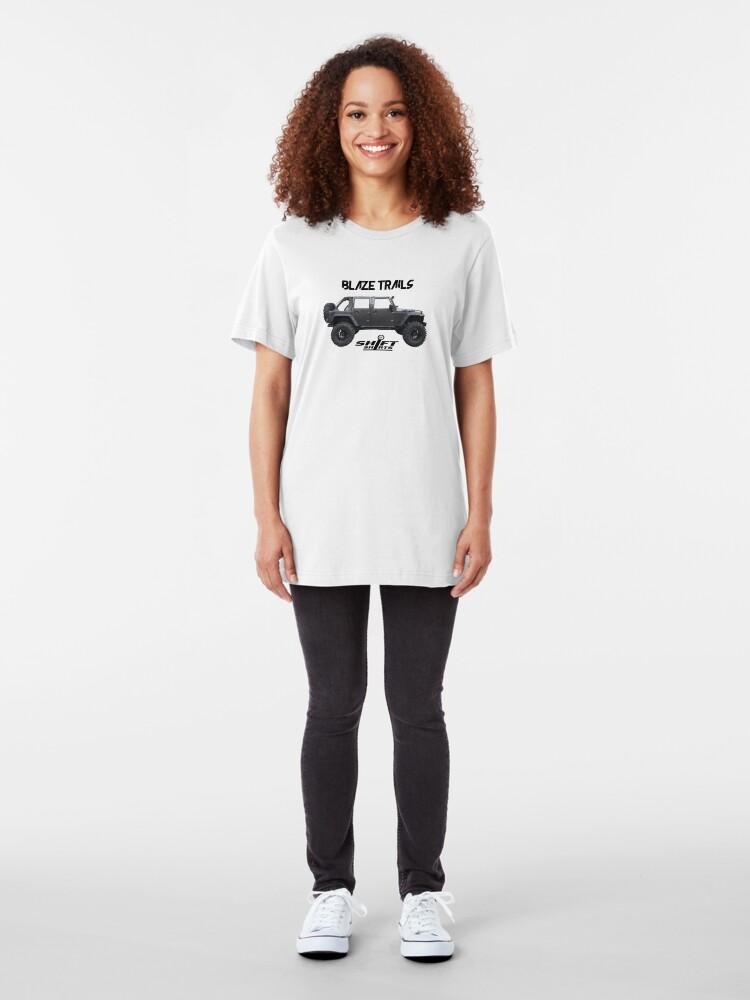 Alternate view of Shift Shirts Blaze Trails - Rubicon Inspired Slim Fit T-Shirt