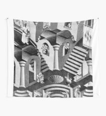 Escher geometric convex concave geometry Wall Tapestry