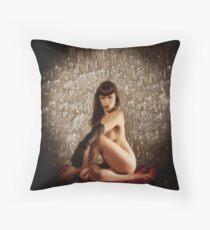 Glitter & Satin Throw Pillow