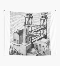 Escher waterfall geometry geometric mathematic Wall Tapestry