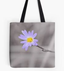 Late Purple Aster in Selective Color Tote Bag