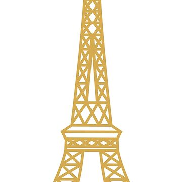 Gold Eiffel Tower by jofices
