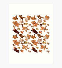 Fancy Goldfish Pattern Art Print