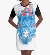 We are nature Graphic T-Shirt Dress
