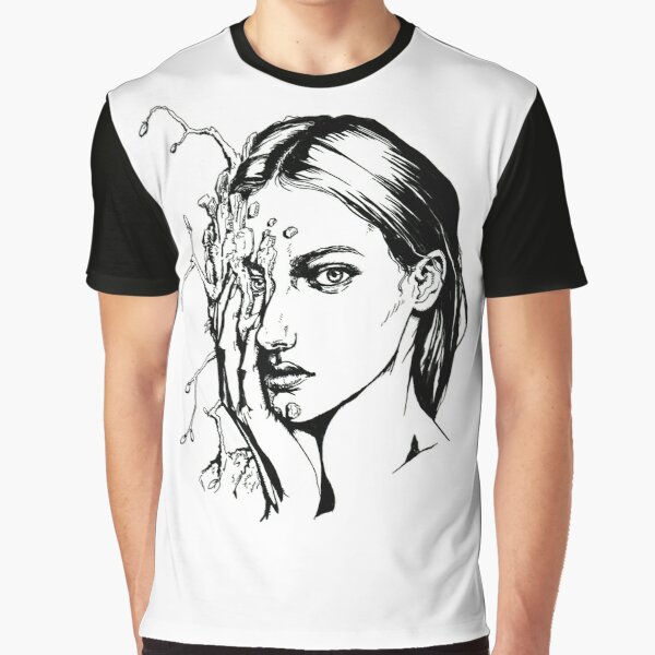 Wooden | Ink Drawing Graphic T-Shirt