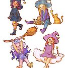 Little witches by Griffindiary